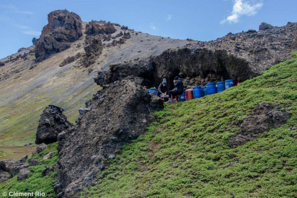 Camp logistique, îles de Kerguelen