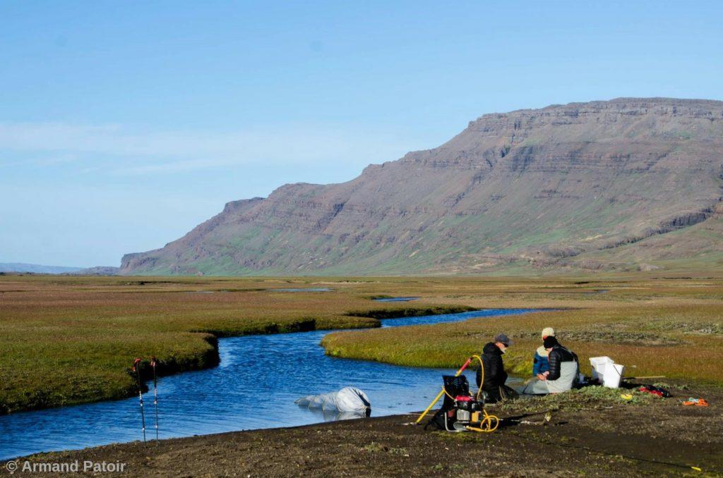 Pêche électrique effectuée sur les îles Kerguelen
