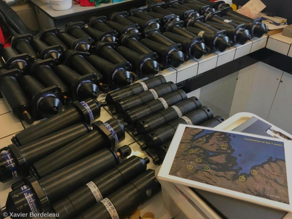 Récepteurs hydrophones installés sur les îles Kerguelen