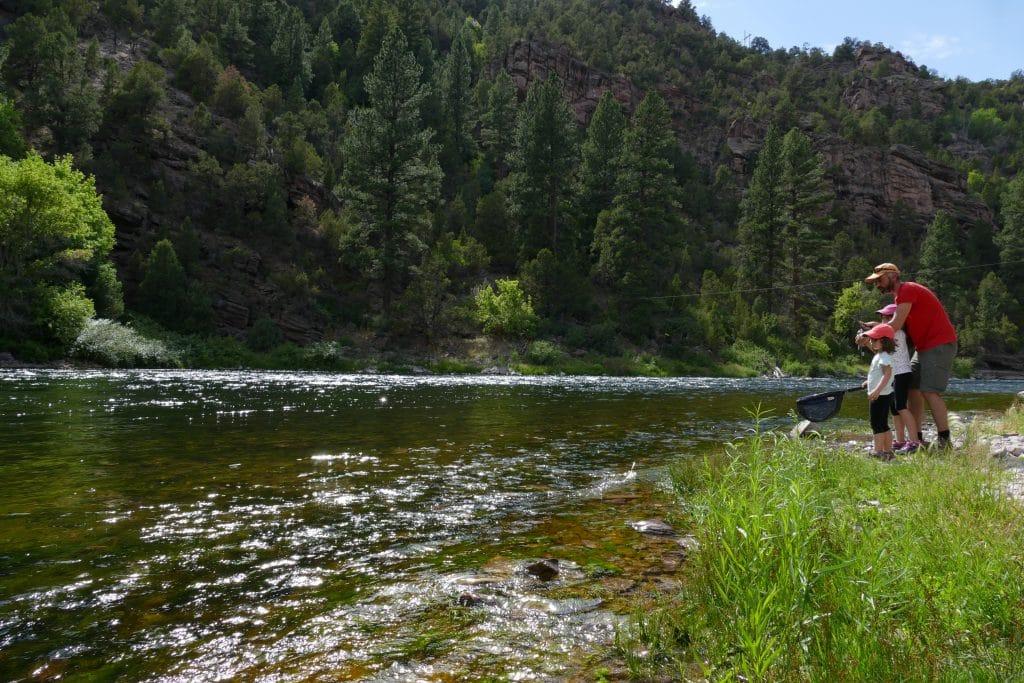 Pêche en famille sur la Green river