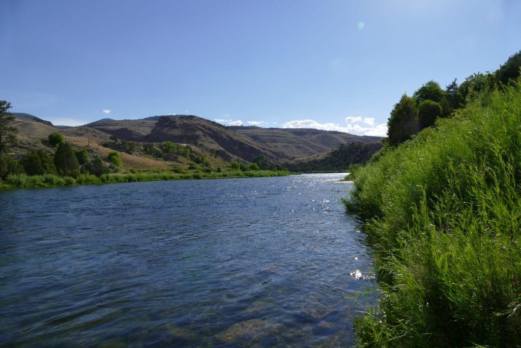 Pêche sur la Green river à Little Hole dans l'Utah