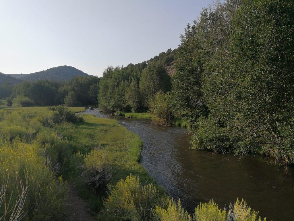 La rivière Fremont au dessus du Mill Meadow Reservoir