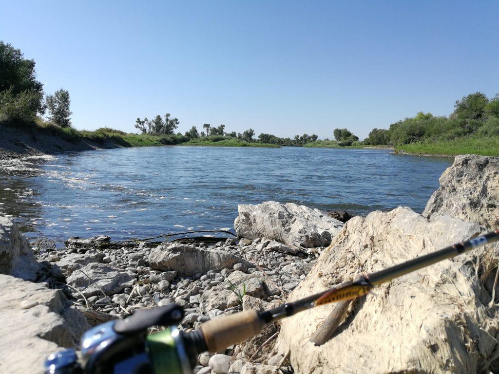 Pêche au leurre sur la rivière Madison dans le Montana