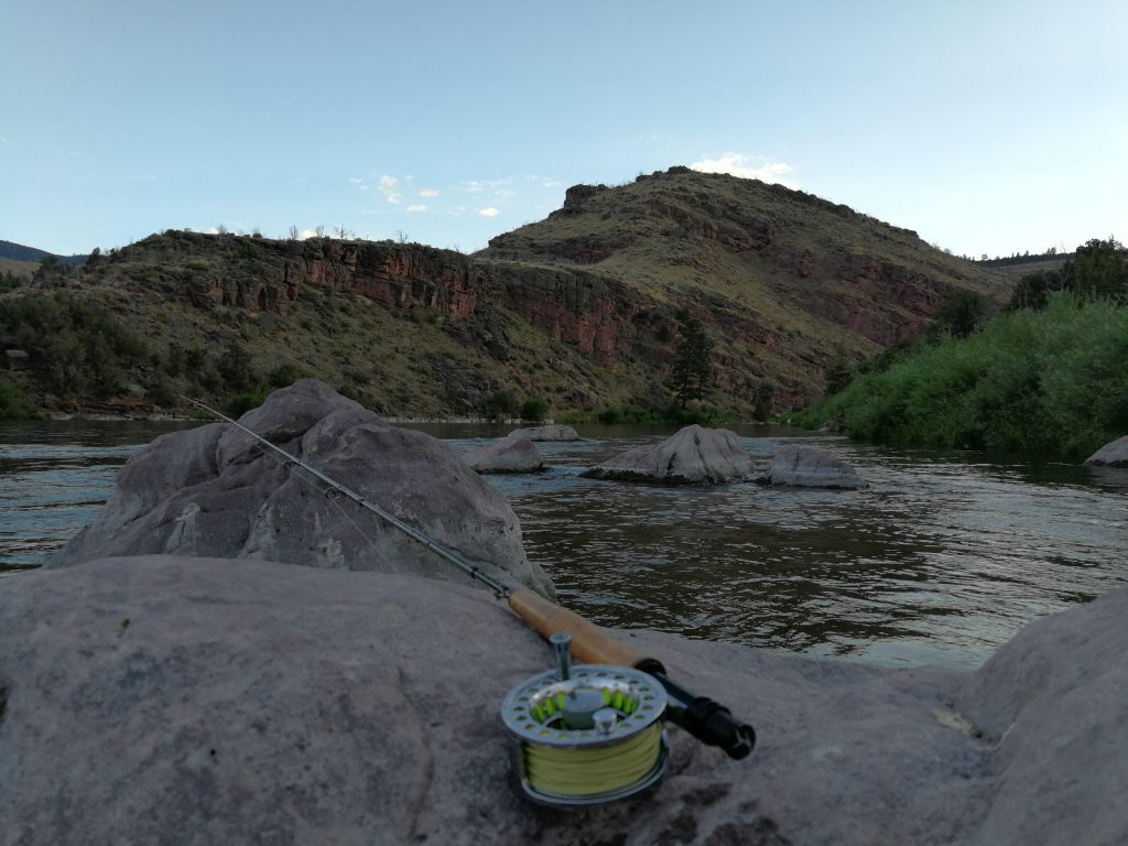 Pêche à la mouche sur la Green river à Little Hole, dans l'Utah