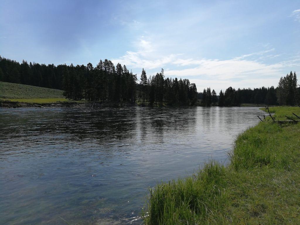 Pêche sur la rivière Yellowstone, vers Cascade