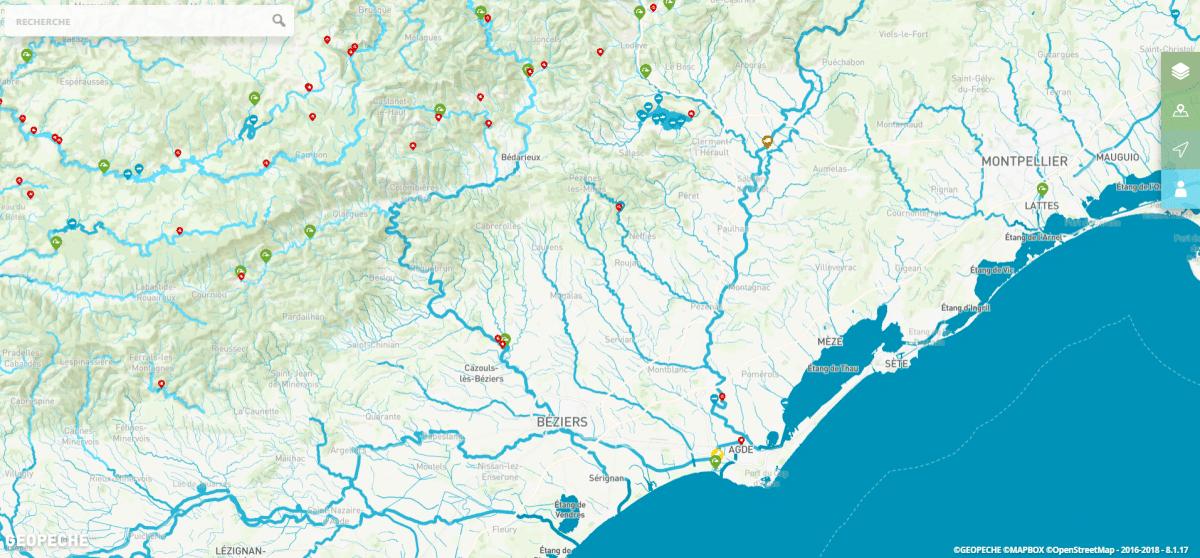 Carte interactive Géopêche