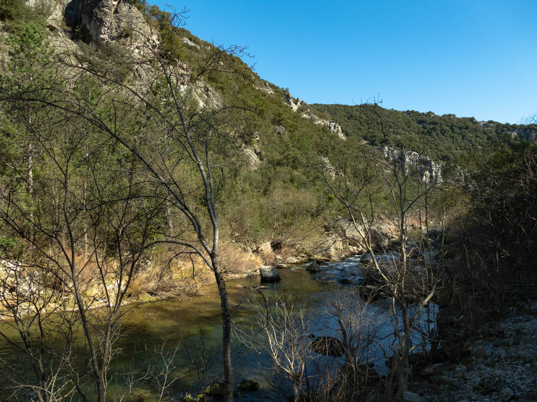 La rivière Vis dans le Gard