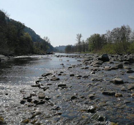 Pêche de la truite sur la rivière Ardèche