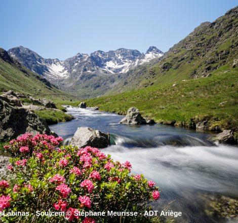 Pêche en montagne en Ariège, sur le ruisseau de Labinas