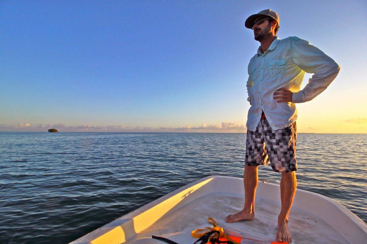 Pêche sur un bateau en Guadeloupe