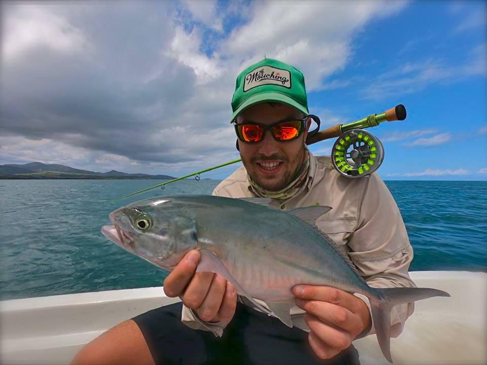 Pêche d'une carangue en Guadeloupe