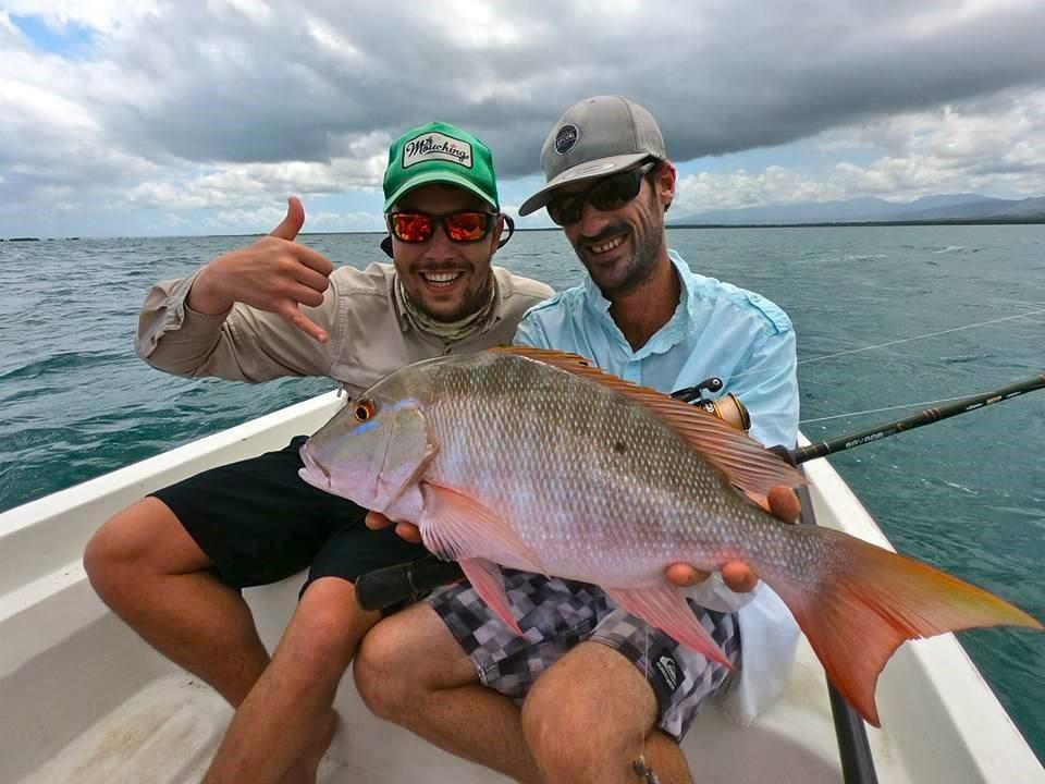Pêche d'un pagre en Guadeloupe