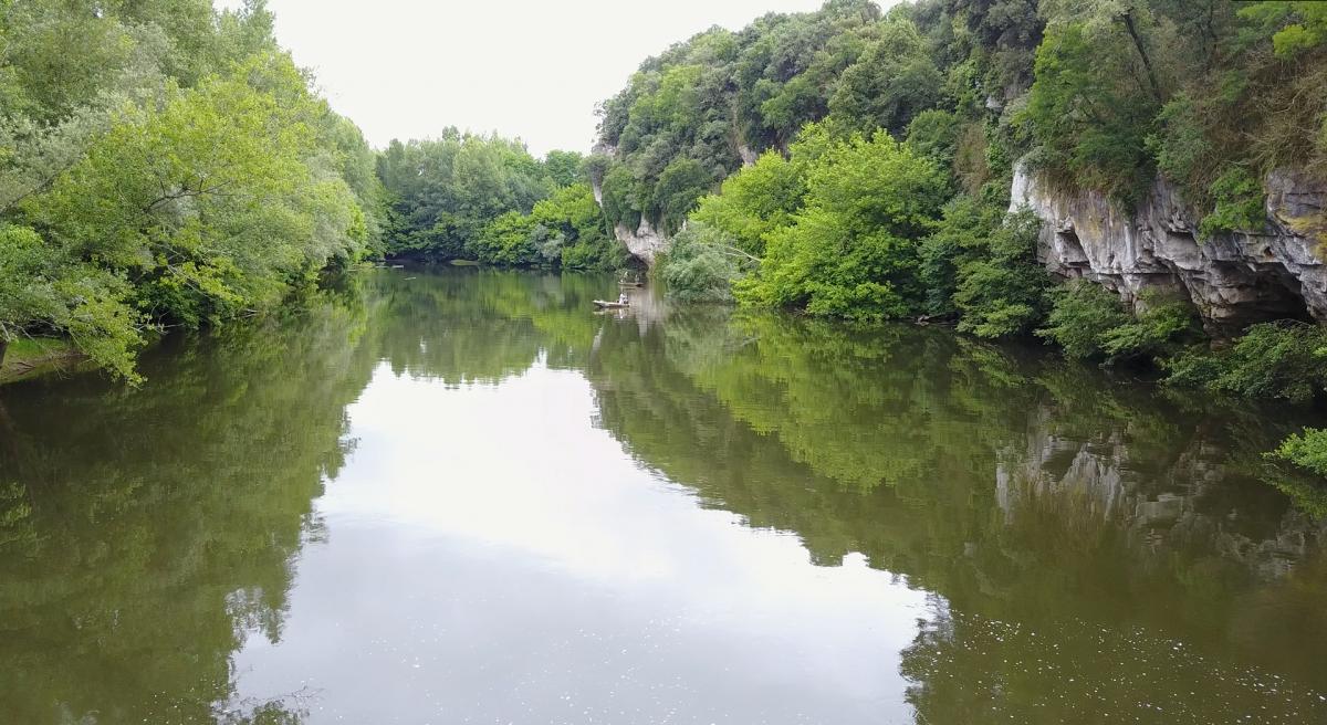 Pêche en bateau sur la Dordogne