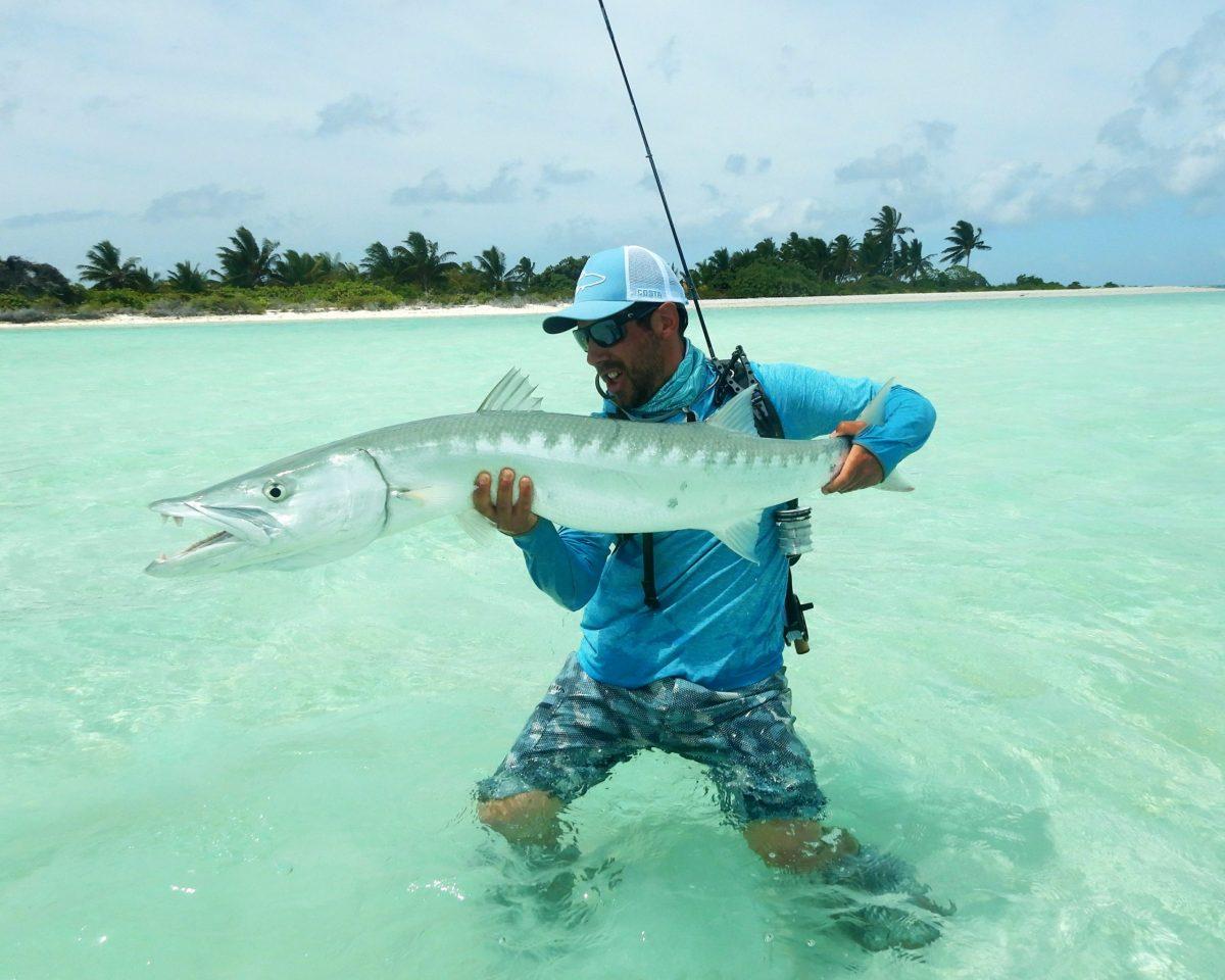 Pêche du barracuda à la mouche sur Christmas Island
