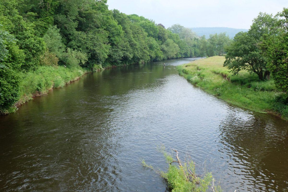 sur les rivières Usk et Wye